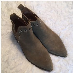 Cordova Como Suede Leather Hipster Booties Studded